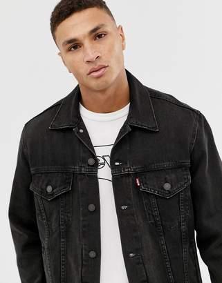 Levi's the virgil oversized denim trucker jacket in black wash