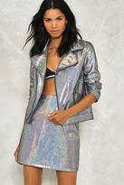 Nasty Gal nastygal Dancing Out in Space Holographic Skirt