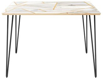 Wrought StudioTM Gullo Dining Table Wrought Studio Top Color: Natural, Base Color: Black