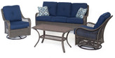 Cambridge Silversmiths Merritt 4 Piece Deep Seating Group with Cushion