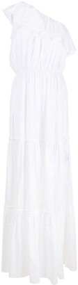 FEDERICA TOSI Ruffle One-Shoulder Maxi Dress