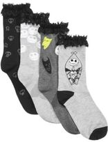 Disney Women's 4-Pk. The Nightmare Before Christmas Lace-Cuff Socks