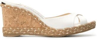 Jimmy Choo Almer 80 wedge sandals