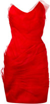Capucci strapless dress - women - Silk/Polyester/Spandex/Elastane/Viscose - 42