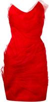 Capucci strapless dress - women - Silk/Viscose/Acetate/Polyester - 42