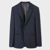 Paul Smith Men's Tailored-Fit Navy Wool-Mohair Blend Blazer With Satin Frogging