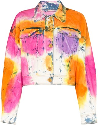 Versace Tie-Dyed Denim Jacket