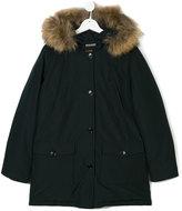 Woolrich Kids fur hood padded parka