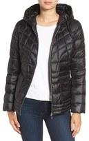 Bernardo Women's Packable Down & Primaloft Fill Hooded Jacket