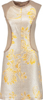 3.1 Phillip Lim Paneled linen-blend and metallic matelassé mini dress