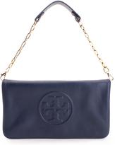 Tory Burch Black Bombe Reva Leather Shoulder Bag