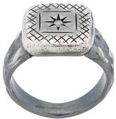 Bottega Veneta engraved star square ring