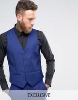 Farah Skinny Waistcoat In Blue