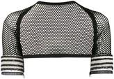 Gianfranco Ferre Pre Owned 1990s bead details mesh bolero