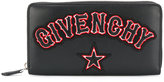 Givenchy logo patch zip around wallet
