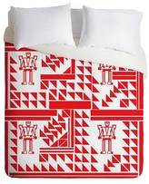 DENY Designs Vy La Robots And Triangles Duvet Cover