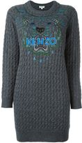 Kenzo 'Tiger' cable knit dress - women - Cotton/Wool - M