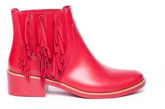 Bernardo Penney Fringe Rain Boot in Red
