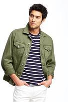 Old Navy Garment-Dyed Denim Jacket for Men