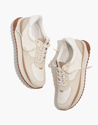 Madewell Kickoff Trainer Sneakers in Neutral Colorblock Leather