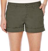 A.N.A a.n.a Flat-Front Flap Pocket Poplin Shorts - Petite