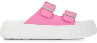 Casadei Buckled Platform Sandals