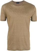 Etro linen T-shirt - men - Linen/Flax - S