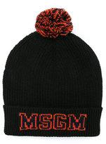 MSGM logo knitted beanie