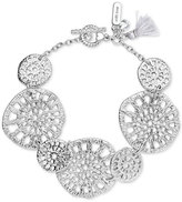 lonna & lilly Silver-Tone Openwork Large Disc Link Bracelet