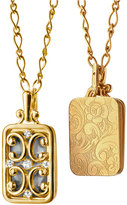 Monica Rich Kosann Gate Locket Necklace with Diamonds, 30""