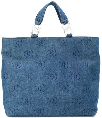 Chanel Pre Owned 2000s CC denim shopper