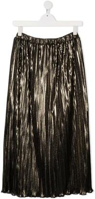 Dondup Kids TEEN metallic pleated skirt