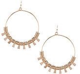 Anna & Ava Julia Boho Drop Hoop Earrings