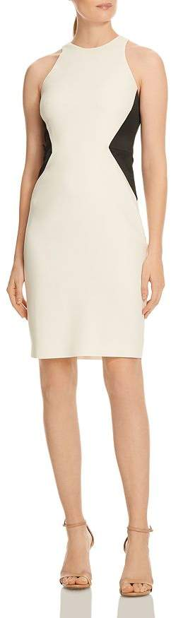 Halston Color-Block Sheath Dress
