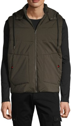 American Stitch Quilted Hooded Vest