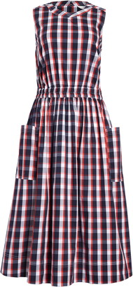 1901 Sleeveless Check Fit & Flare Dress