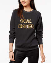 Bow & Drape Goal Digger Sequined Graphic Sweatshirt