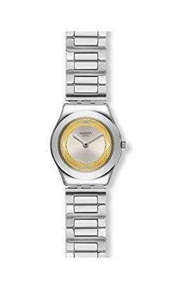 Swatch Womens Analogue Quartz Watch with Stainless Steel Strap YSS328G