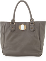 Deux Lux Rumi Faux-Leather Tote, Gray