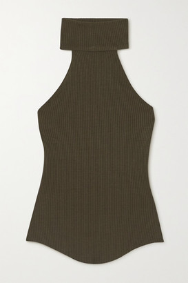 The Range Alloy Ribbed Stretch-knit Turtleneck Top