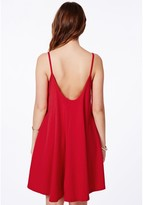 Missguided Rayla Red Oversized Swing Dress