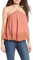 ASTR the Label Lace Halter Tank
