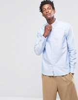 Wood Wood Timothy Logo Oxford Shirt Buttondown In Regular Fit