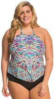 Kenneth Cole Plus Size Hot to Trot Tribal Hankini Top 8139314