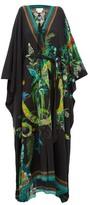 Camilla River Cruise Silk-crepe Maxi Dress - Womens - Black Print