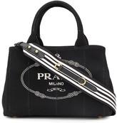 Prada Printed Logo Tote Bag