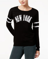 Ultra Flirt Juniors' New York Graphic Sweater