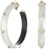 Alexis Bittar Gold Studded Hoop Earrings Earring