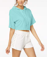 Material Girl Juniors' Hooded Crop Top, Created for Macy's