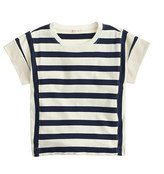 J.Crew Girls' Two-way stripe T-shirt
